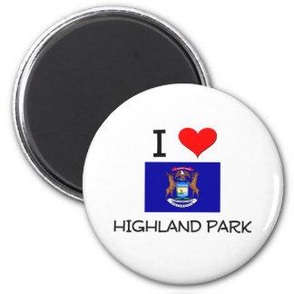 I Love Highland Park Michigan Refrigerator Magnet