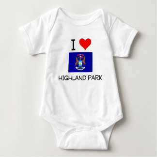 I Love Highland Park Michigan Tshirts