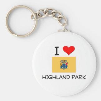I Love Highland Park New Jersey Basic Round Button Key Ring