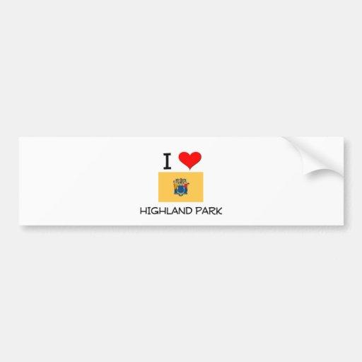 I Love Highland Park New Jersey Bumper Sticker