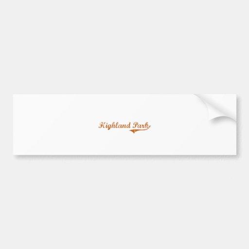 I Love Highland Park Texas Bumper Stickers
