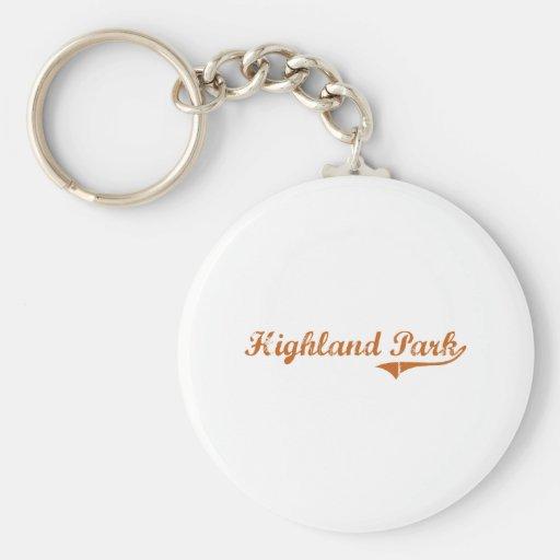 I Love Highland Park Texas Key Chain