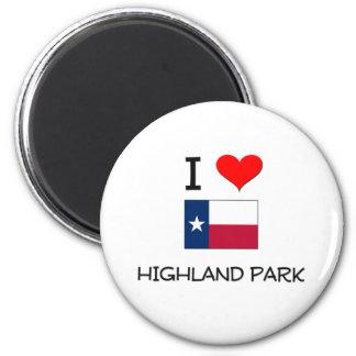 I Love Highland Park Texas Magnet
