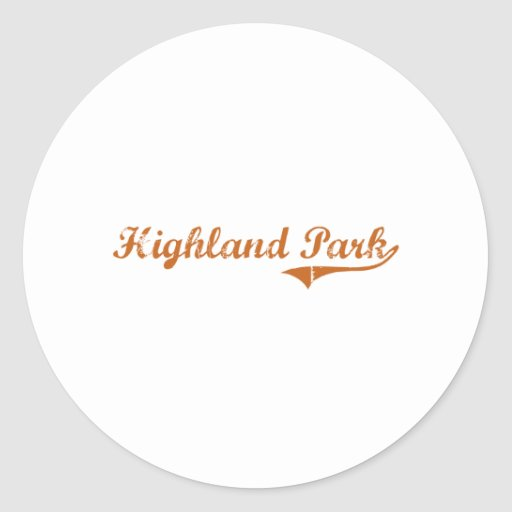 I Love Highland Park Texas Round Stickers