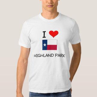 I Love Highland Park Texas T-shirt