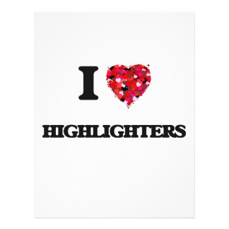 I Love Highlighters 21.5 Cm X 28 Cm Flyer