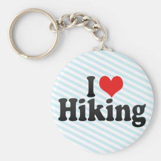 I Love Hiking Basic Round Button Key Ring