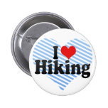 I Love Hiking Pin