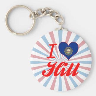 I Love Hill New Hampshire Key Chains