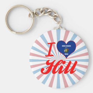 I Love Hill Wisconsin Keychain