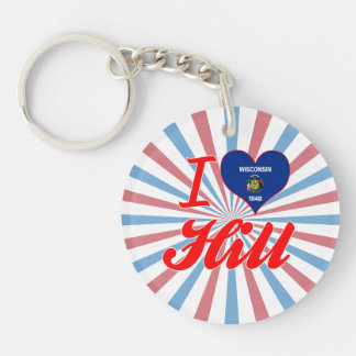 I Love Hill Wisconsin Keychains
