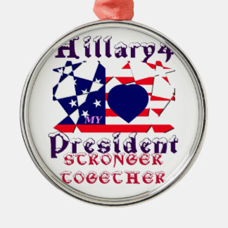 I love Hillary For USA President We are Stronger T Christmas Ornament