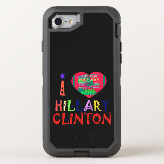I love Hillary for USA Presidential election OtterBox Defender iPhone 7 Case