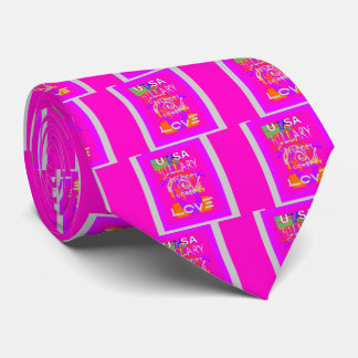 I Love Hillary USA President Stronger Together art Tie