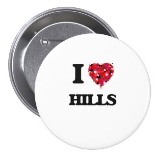 I Love Hills 7.5 Cm Round Badge