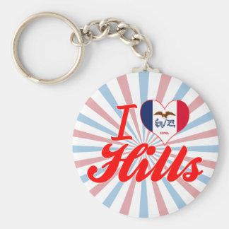 I Love Hills Iowa Key Chains