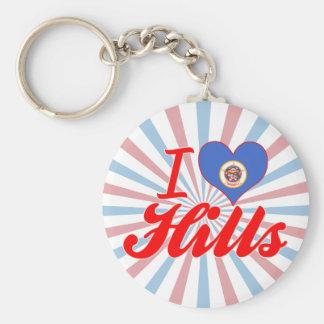 I Love Hills Minnesota Key Chains