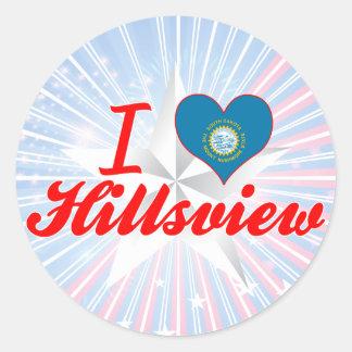 I Love Hillsview, South Dakota Round Sticker