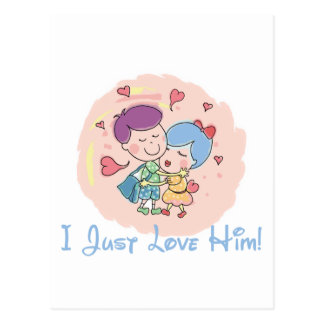 I Love Him Postcard