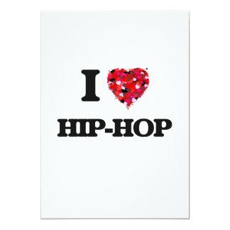 I Love Hip-Hop 13 Cm X 18 Cm Invitation Card