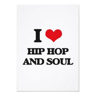 I Love HIP HOP AND SOUL Invitation Card