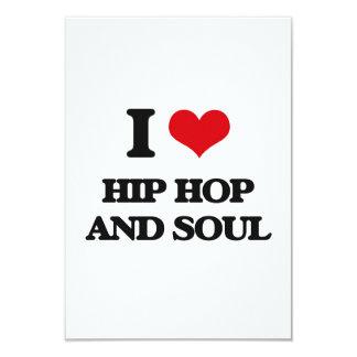 "I Love HIP HOP AND SOUL 3.5"" X 5"" Invitation Card"