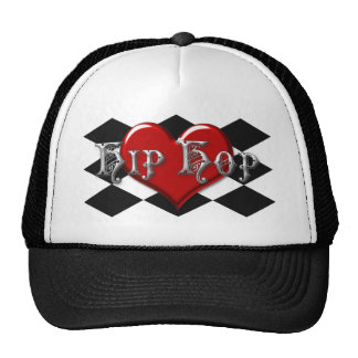 I Love Hip Hop Checkers Mesh Hats