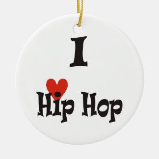 I love Hip Hop Christmas Ornament