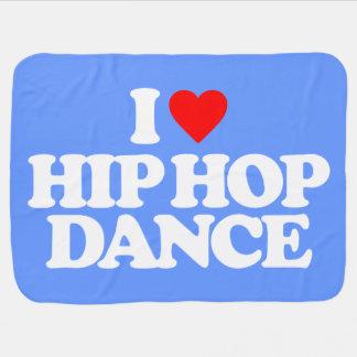 I LOVE HIP HOP DANCE BABY BLANKETS