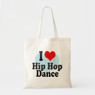 I love Hip Hop Dance Tote Bags