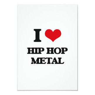 "I Love HIP HOP METAL 3.5"" X 5"" Invitation Card"