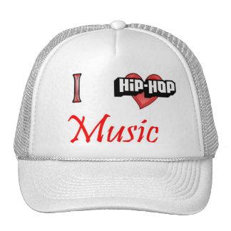 I love Hip-Hop Music Mesh Hats