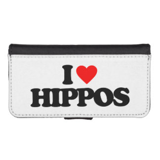 I LOVE HIPPOS iPhone SE/5/5s WALLET CASE