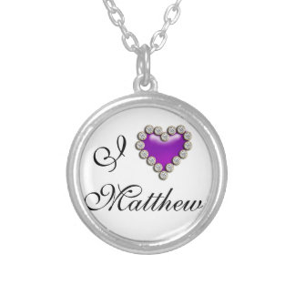 I love his her name personalize custom jewelry