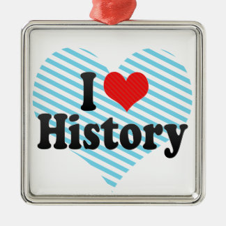 I Love History Christmas Ornament