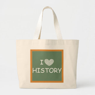 I Love History Jumbo Tote Bag
