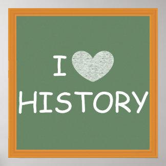 I Love History Poster