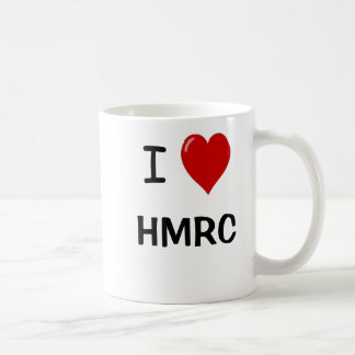 I Love HMRC - I Heart HMRC - For UK Tax Lovers! Basic White Mug