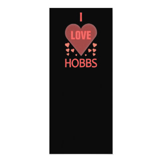 I Love Hobbs NM 10 Cm X 24 Cm Invitation Card