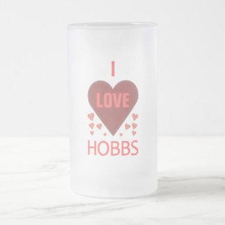 I Love Hobbs NM Frosted Glass Mug