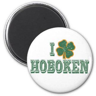 I love Hoboken - St Patrick s Day Refrigerator Magnets