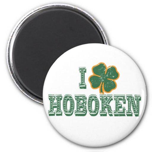 I love Hoboken - St. Patrick's Day Refrigerator Magnets
