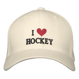 'I LOVE HOCKEY'  BASEBALL CAP