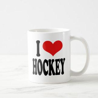 I Love Hockey Basic White Mug