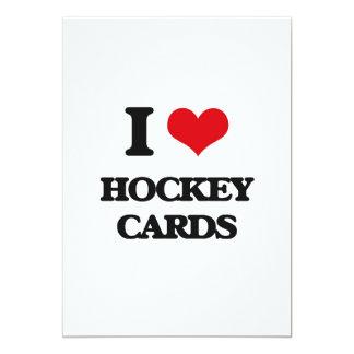 I Love Hockey Cards Custom Invitation