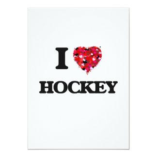I Love Hockey 13 Cm X 18 Cm Invitation Card