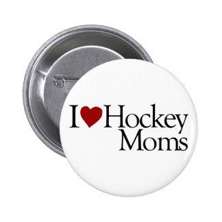 I Love Hockey Moms (Sarah Palin) 6 Cm Round Badge