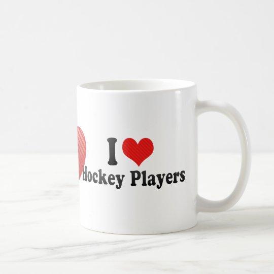 I Love Hockey Players Coffee Mug