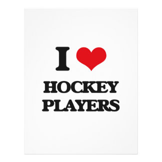 I love Hockey Players Full Color Flyer