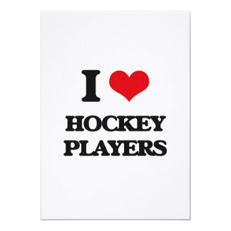 I love Hockey Players Personalized Invitation